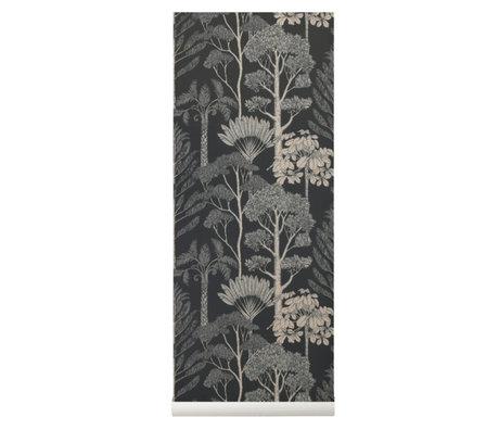 Ferm Living Wallpaper Katie Scott Trees brown gray 10x0.53m