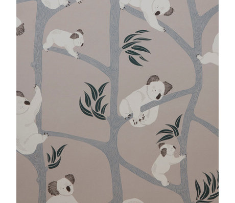 Ferm Living kids Wallpaper Koala gray 10x0.53m