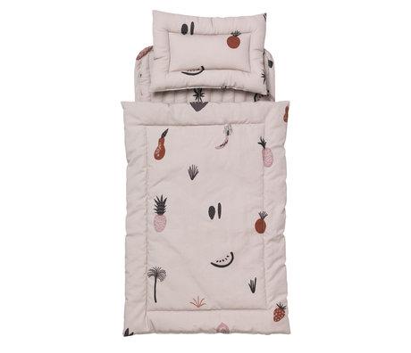 Ferm Living Doll bed bedding Fruiticana Quilt multicolour cotton 3x20x40cm
