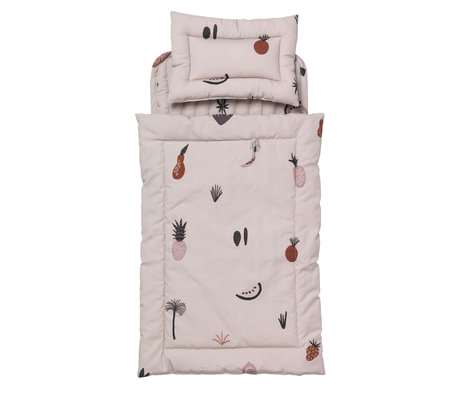 Ferm Living kids Doll bed bedding Fruiticana Quilt multicolour cotton 3x20x40cm