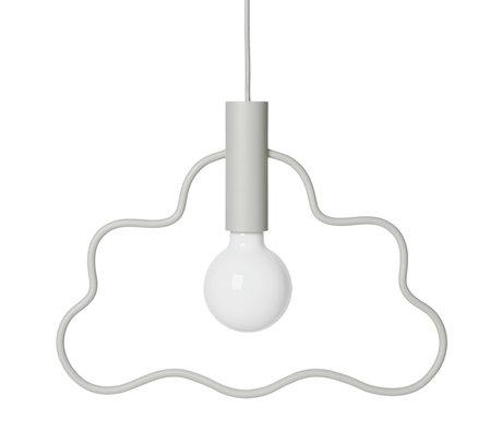 Ferm Living Hanglamp Cloud licht grijs metaal 4,4x38x36,5cm