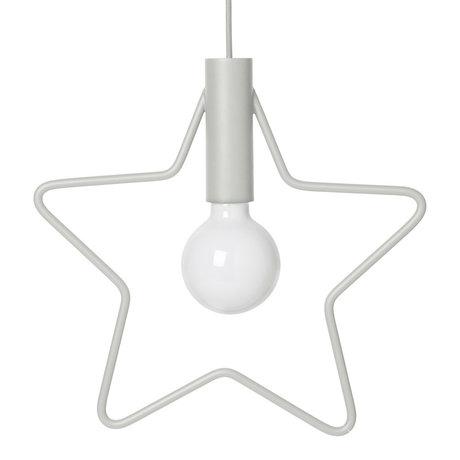 Ferm Living Hanglamp Star licht grijs metaal 4,4x38x36,5cm