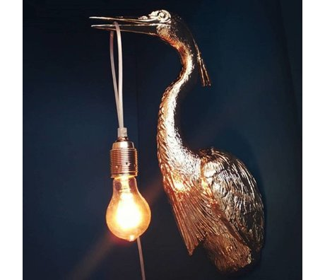 Jasmin Djerzic Wall lamp Flying Dutchman gold plastic 16x29.5x48cm