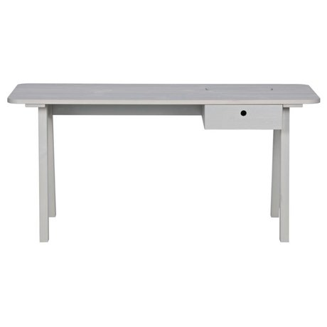 LEF collections Desk sammie warm gray pine 160x65x74cm