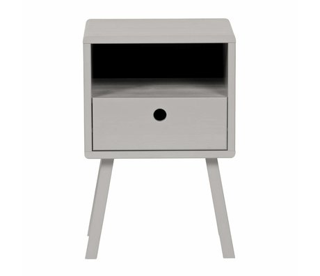 LEF collections Bedside table sammie warm gray pine 33x31x53cm