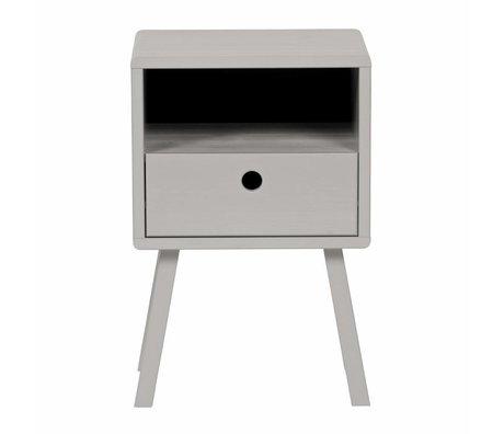 LEF collections Nachtkastje sammie warm grijs grenen 33x31x53cm