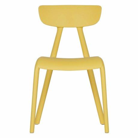 LEF collections Kinder stoeltje Wisse geel kunststof 40x36x58cm