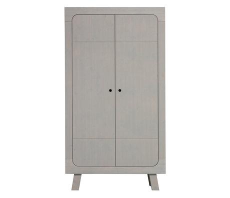 LEF collections Kast Sammie 2-deurs warm grijs grenen 110x55x200cm