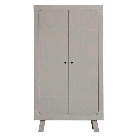 LEF collections Cupboard Sammie 2-door warm gray pine 110x55x200cm