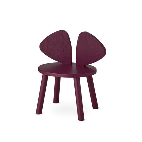 NOFRED toddler chair mouse burgundy red wood 42.5x28x46.4 cm
