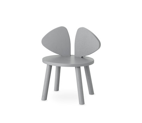 NOFRED toddler chair mouse gray wood 42.5x28x46.4 cm