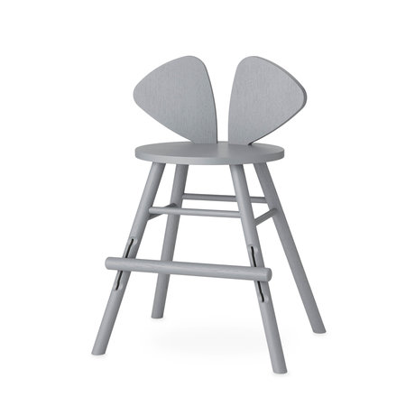 NOFRED children's stool mouse gray wood 51.59x43.93x77.3cm