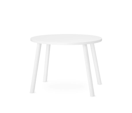 NOFRED toddler table mouse white wood 60x46x43.7cm