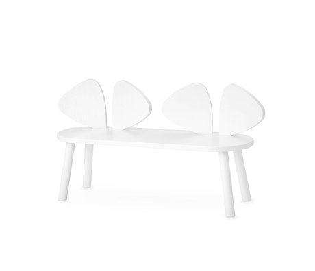 NOFRED children's bench mouse white wood 87.2x28x46.4 cm