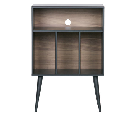 WOOOD Cabinet James black walnut wood 60x44x83cm