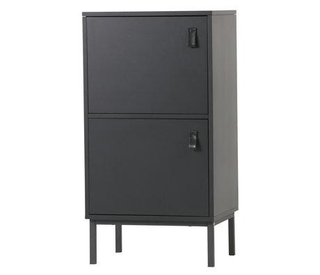LEF collections Cupboard Nico black MDF 45x35x85cm