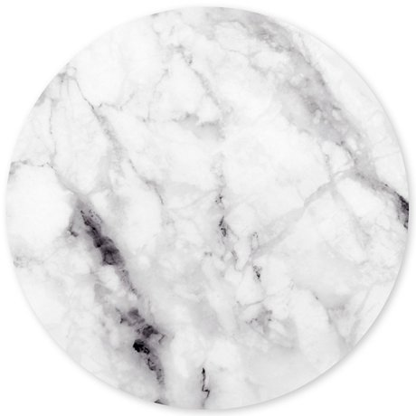 Groovy Magnets Children's magnet sticker marble white self-adhesive vinyl with iron particles Ø60 cm