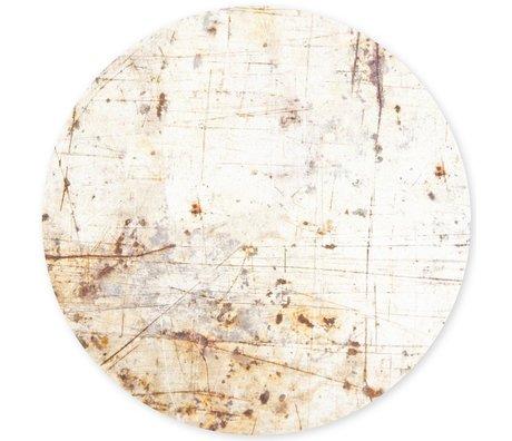 Groovy Magnets Kindermagneetsticker rusty metal roestig wit zelfklevend vinyl met ijzerdeeltjes Ø60cm