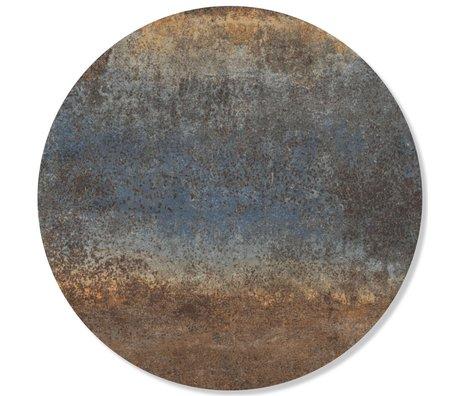 Groovy Magnets Kindermagneetsticker rusty metal staal blauw zelfklevend vinyl met ijzerdeeltjes Ø60cm