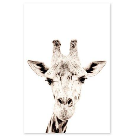 Groovy Magnets Kindermagneetsticker giraffe zelfklevend vinyl met ijzerdeeltjes 60x90cm