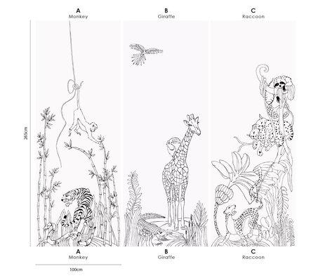 Groovy Magnets Kinderbehang magnetisch writeble jungle giraffe vinyl met ijzerdeeltjes 102x265cm