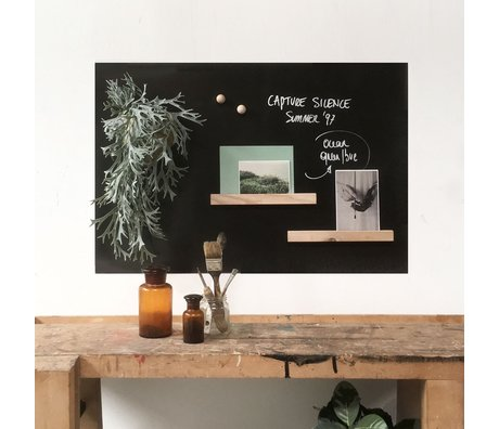 Groovy Magnets Kindermagneetsticker writeble chalk marker zwart vinyl met ijzerdeeltjes 60x90cm