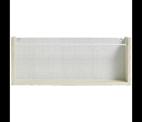 OYOY Children's wall rack Moku natural brown white wood metal 13x20x50cm