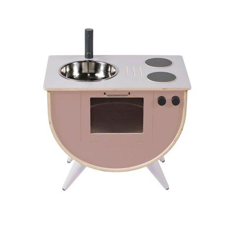 Sebra Children's play kitchen sunset pink wood 58x38x50cm