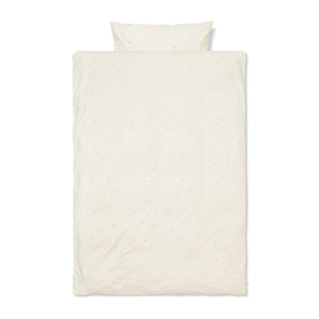 Ferm Living Kinderdekbedovertrek Dot geborduurd  tiener Off-White katoen 140x200cm