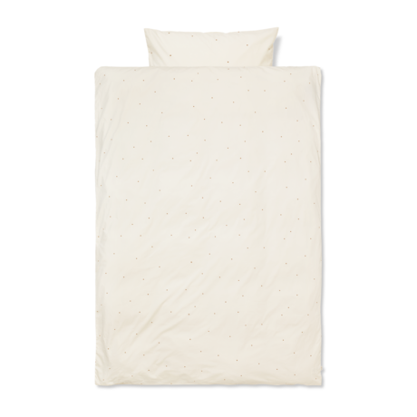 Ferm Living Children's duvet cover Dot embroidered Junior Off-White cotton 100x140cm