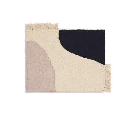 Ferm Living Kinderplacemat Earth donker blauw katoen 42x30cm