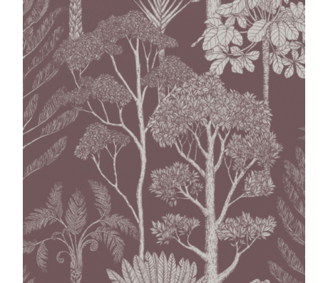 Ferm Living Children's wallpaper Katie Scott Trees mahony brown non woven non-woven wallpaper 53x1000cm