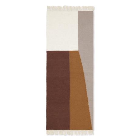 Ferm Living Children's floor rug Kelim Runner Borders multicolour wool cotton 180x70cm