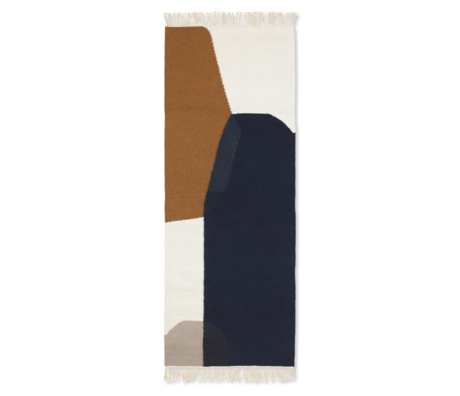 Ferm Living Children's floor rug Kelim Runner Merge multicolour wool cotton 180x70cm