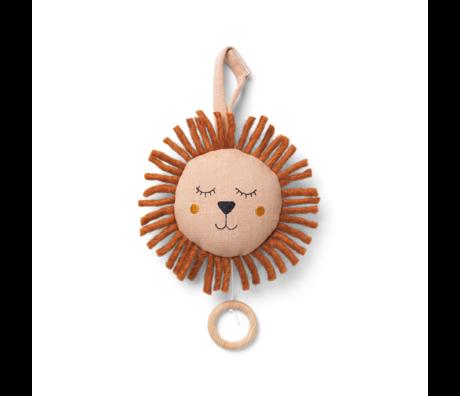 Ferm Living Kindermuziekmobiel Lion Dusty Roze Ø12cm