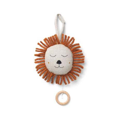 Ferm Living Kindermuziekmobiel Lion naturel bruin Ø12cm