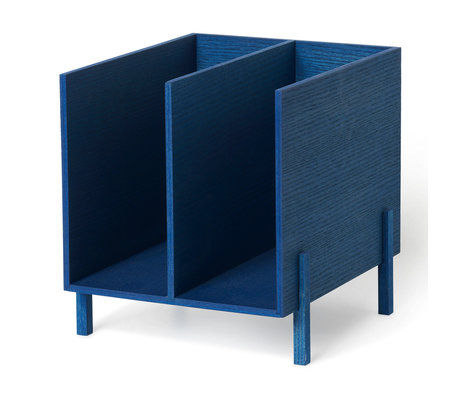 Ferm Living Children's storage blue wood 21x23x22.5 cm