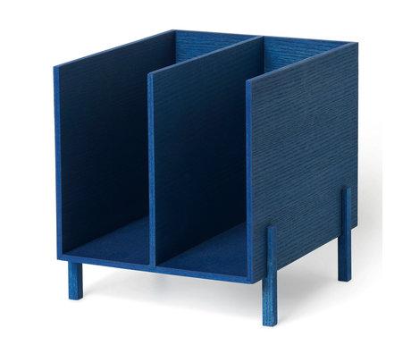 Ferm Living Kinderopberger blauw hout 21x23x22,5cm