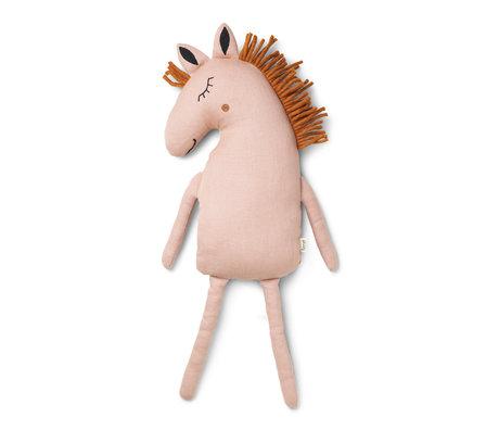Ferm Living Knuffel Safari  Horse dusty roze textiel 22x8x70cm