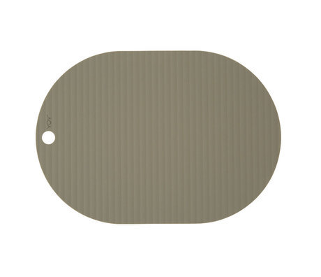 OYOY Kinderplacemat Ribbu olijf groen siliconen set van 2 33x46cm