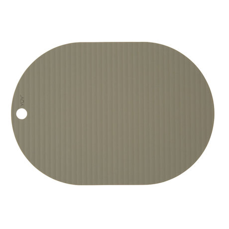 OYOY Children's placemat Ribbu olive green silicone set of 2 33x46cm