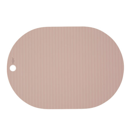 OYOY Children's placemat Ribbu pink silicone set of 2 33x46cm