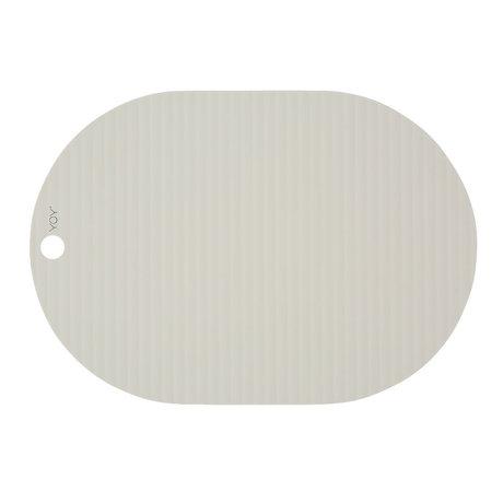 OYOY Kinderplacemat Ribbu gebroken wit siliconen set van 2 33x46cm