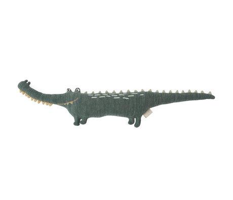 OYOY Knuffel Mr. Crocodile Gustav donker groen textiel 90x14x17cm