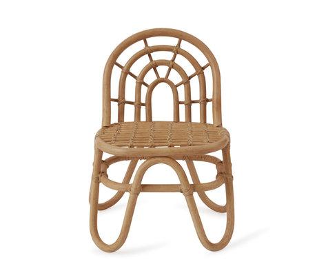 OYOY Kinderstoel mini Rainbow bruin bamboo 33,5x28x52cm
