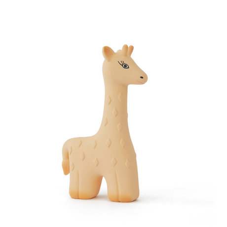OYOY Biting toy Giraffe yellow natural rubber 10x15cm