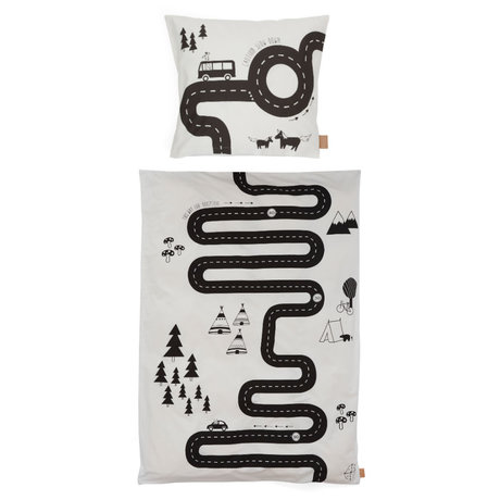 OYOY Children's duvet cover Adventure Adult off-white cotton 140x200cm - incl. Pillowcase 60x63cm