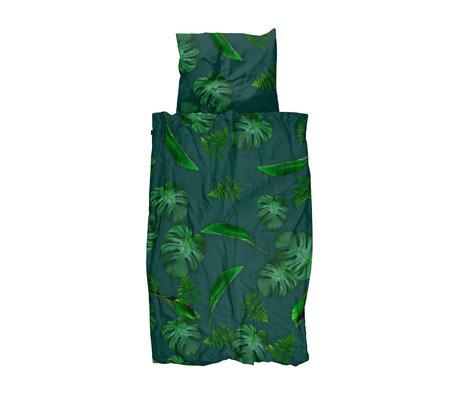 Snurk Beddengoed Kinderdekbedovertrek Green Forest groen katoen 140x200/220cm