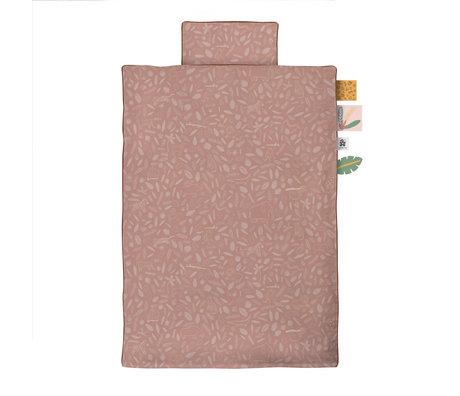 Sebra Children's duvet cover Wildlife Junior pink cotton 100x140cm - incl. Pillowcase 40x45cm