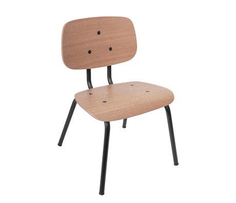 Sebra Kinderstoel mini bruin zwart hout metaal 37x37x57cm